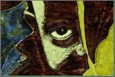 Een impressie afbeelding van een Afrikaanse jongen, gemaakt met de techniek van het brandschilderen | door glasatelier ruud harberts